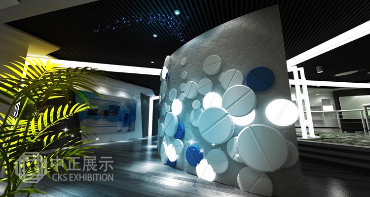 山東魯抗藥業企業文化展廳